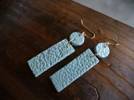 Earrings on Wood