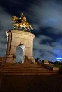 Sam Houston Statue Night